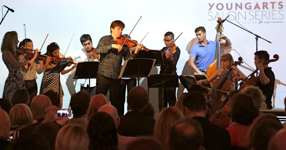 Joshua Bell & YA alumni performing